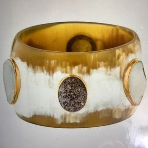 ASHLEY PITTMAN Horn & Druzy Jua Bangle Kenya